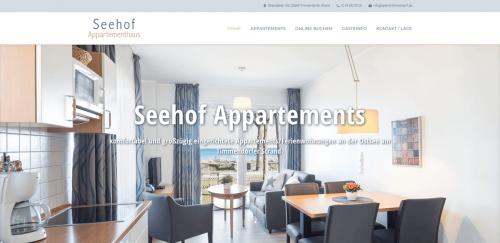 Website-Referenz: www.seehof-timmendorf.de inkl. Buchungssystem